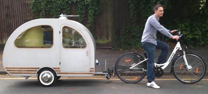 Wisper bicycle towing QTvan
