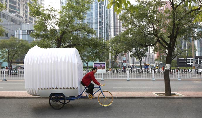 Bicycle RV tricycle house