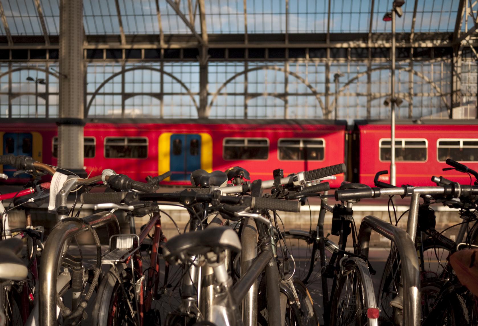 Bikes at station