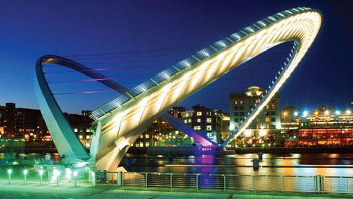 Gateshead pedestrian bridge
