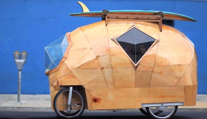 Golden Gate bicycle RV camper vans