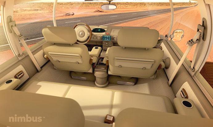Nimbus electric camper van minibus interior