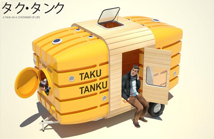 Taku-Tanku bicycle caravan trailer