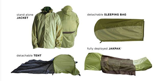 wearable tent for micro adventure