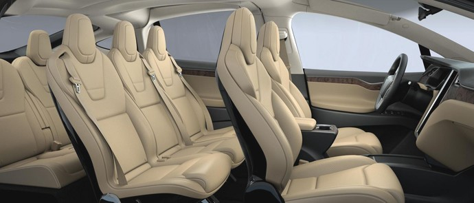 Tesla Model X seven seats