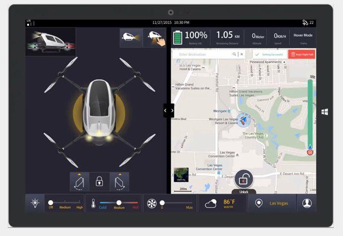 ehang 184 flying taxi drones