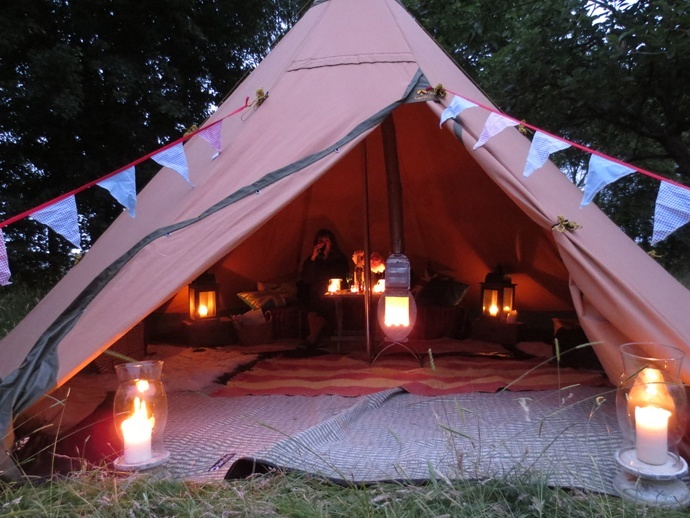 tentipi tent with stove