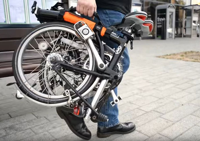 Brompton carry handle