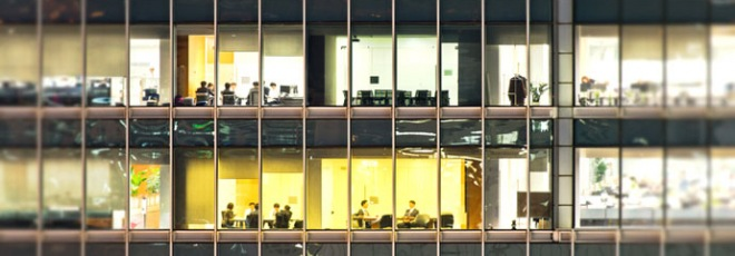sedentary office work