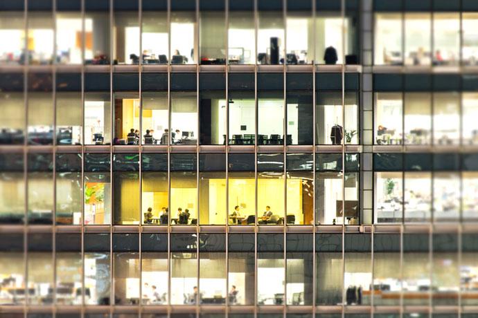 sedentary office work